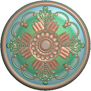 Mẫu khắc Mâm Trần, Hoa Trần