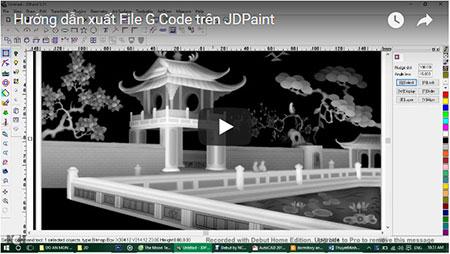 Hướng dẫn xuất File G-Code trên JDPaint